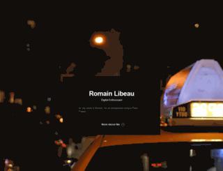 romainlibeau.com screenshot