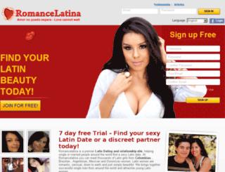 romancelatina.com screenshot