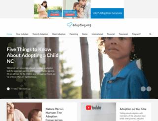 romania.adoption.com screenshot