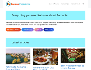 romaniaexperience.com screenshot