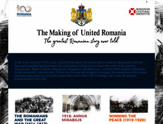 romaniancentenary.org screenshot