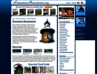romanianmonasteries.org screenshot
