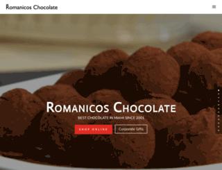 romanicoschocolate.com screenshot
