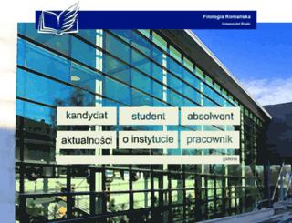 romanistyka.us.edu.pl screenshot