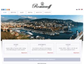romanoff-property.com screenshot