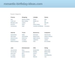 romantic-birthday-ideas.com screenshot