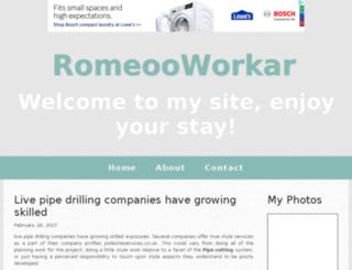 romeooworkar.bravesites.com screenshot