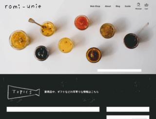romi-unie.jp screenshot