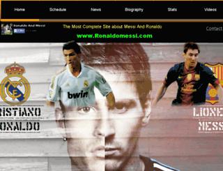 ronaldomessi.com screenshot