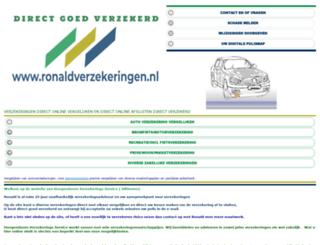 ronaldverzekeringen.nl screenshot