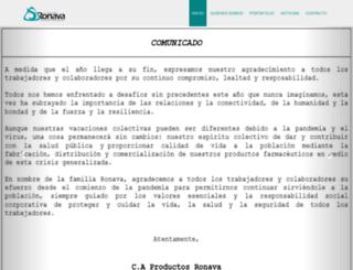 ronava.com.ve screenshot