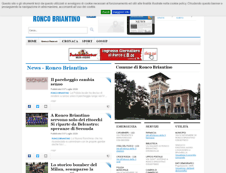 ronco-briantino.netweek.it screenshot