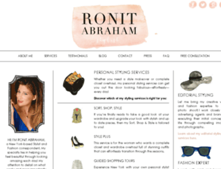 ronitstylist.com screenshot