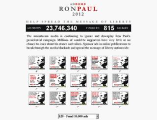 ronpaul2012.adbacker.com screenshot