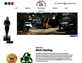 rons-hauling.com screenshot