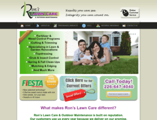 ronslawncare.ca screenshot