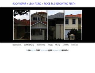 roof-repair-professionals-perth.com screenshot