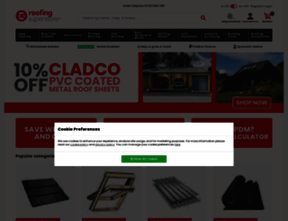 roofingsuperstore.co.uk screenshot
