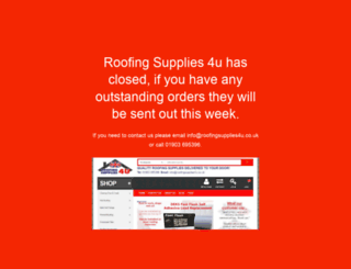 roofingsupplies4u.co.uk screenshot