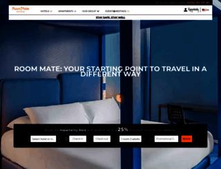 room-matehotels.com screenshot