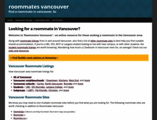 roommatesvancouver.com screenshot