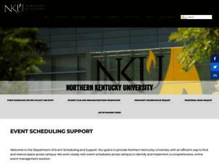roomrequestsupport.nku.edu screenshot