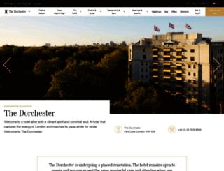rooms.thedorchester.com screenshot