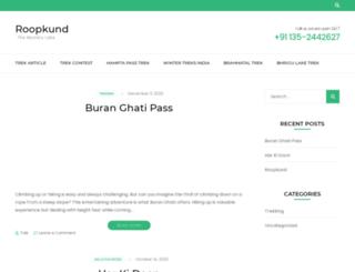 roopkund.co.in screenshot