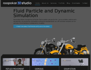roopokar3dstudio.com screenshot