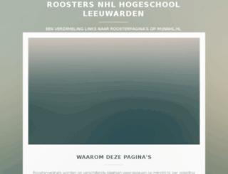 rooster.nhl.nl screenshot