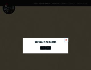roostersbrewingco.com screenshot