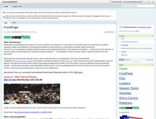 rootscampphilly2009.pbwiki.com screenshot