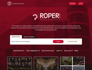 ropercenter.uconn.edu screenshot