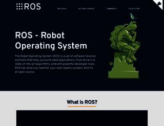ros.org screenshot