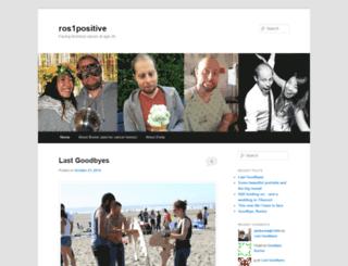 ros1positive.wordpress.com screenshot