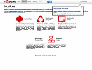 rosalind.info screenshot
