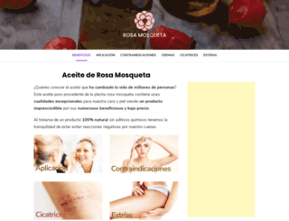 rosamosqueta.org screenshot