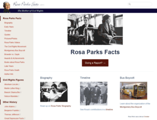 rosaparksfacts.com screenshot
