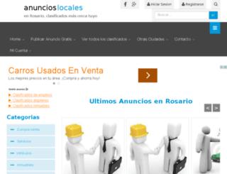 rosario.anuncioslocales.com.ar screenshot
