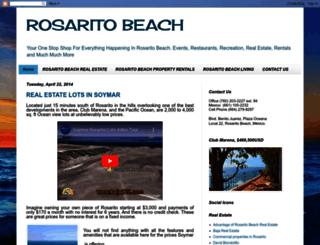 rosaritobeachrealestate123.blogspot.mx screenshot