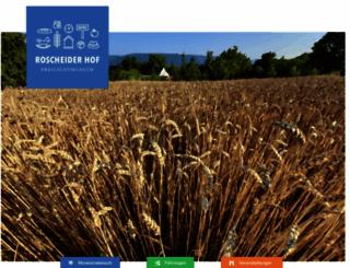 roscheiderhof.de screenshot