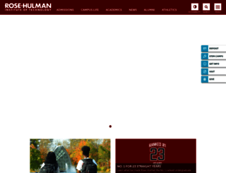 rose-hulman.edu screenshot