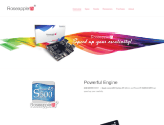roseapplepi.org screenshot