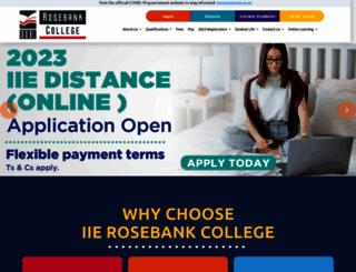 rosebankcollege.co.za screenshot