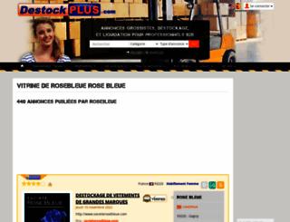 rosebleue.destockplus.com screenshot
