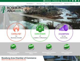 roseburgareachamber.org screenshot