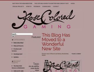 rosecoloredgaming.wordpress.com screenshot