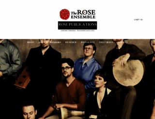 roseensemble.org screenshot