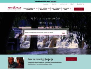 rosehills.com screenshot