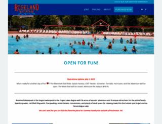 roselandwaterpark.com screenshot